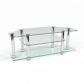 ТВ тумба стеклянная Альтра 110х45х52 (БЦ-стол ТМ)
