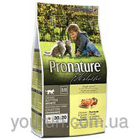 Сухой корм для котят Pronature Holistic (Пронатюр Холистик) с курицей и бататом  2.72кг