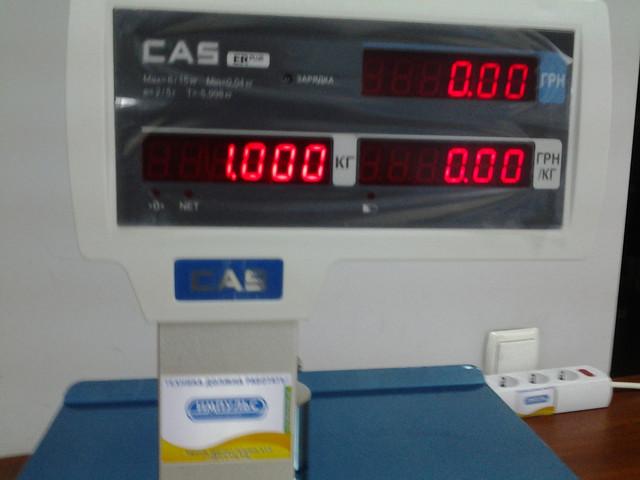 индикатор клиента на весах CAS ER Plus