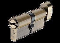 Цилиндр MVM P6P30/30T-ключ/тумблер AB-старая бронза, фото 1