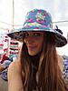 Джинсовая шляпа голубая в ромашки