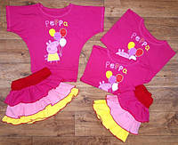 Летний костюмчик для девочки с юбочкой