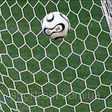 Сетка для футбольных ворот, форма ячейка 6-угольник, размер 6х8 см. Новинка!!!, фото 2