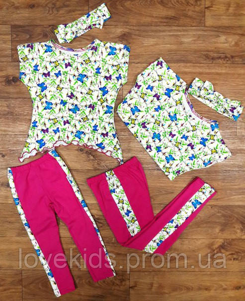 Летний костюмчик для девочек,лосины и туника,повязка, цена 220 грн ... cd8aee24dd7