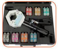 Кримпер гидравлический для обжимки шлангов кондиционеров с 7-ю адаптерами