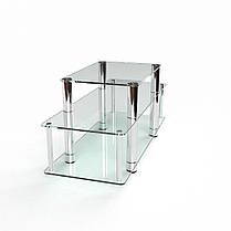 ТВ тумба стеклянная Баланс 95х36х52 (БЦ-стол ТМ), фото 2