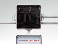 Заливная электромонтажная коробка с не удаляемым компаундом, с клеммами (5шт, 0,5-2,5кв.мм.)