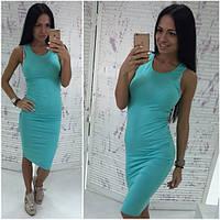 Женское платье-майка бирюзовое OS-318