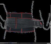 Пояс ортопедический аэропреновый с ребрами жесткости ReMED, (черный/серый)