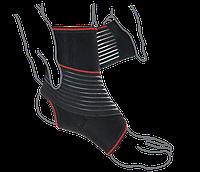 Бандаж на голеностопный сустав с дополнительной фиксацией ReMED, (серый/черный)