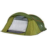 Палатка 2 Seconds Easy 3 Quechua трехместная, зеленая (Быстро раскладывается)