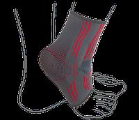 Бандаж на голеностопный сустав вязанный эластичный  ReMED, (серо-красный)