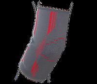 Бандаж на локтевой сустав вязанный эластичный ReMED, (черный/серый)