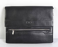 Чоловіча наплічна  шкіряна  сумка Polo(чорна)