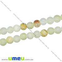 Бусина натуральный камень Оникс желтый, 6 мм, Круглая, 1 шт (BUS-016327)