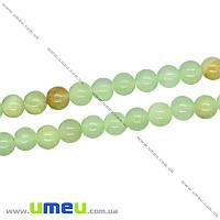 Бусина натуральный камень Оникс зеленый, 4 мм, Круглая, 1 шт (BUS-016299)
