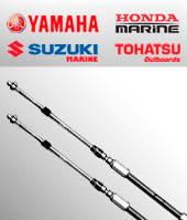 Трос газ-реверс С2 (для моторов Honda, Yamaha, Suzuki, Tohatsu), 26 футов
