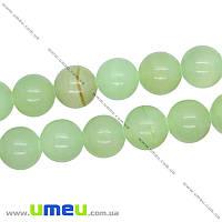 Бусина натуральный камень Оникс зеленый, 12 мм, Круглая, 1 шт (BUS-016273)