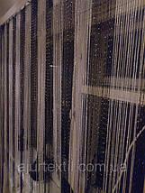 Шторы нити с люрексом радуга черно-белые, фото 2