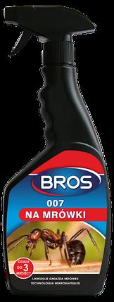 Спрей для уничтожения муравьев и других ползающих насекомых BROS 500мл, фото 2
