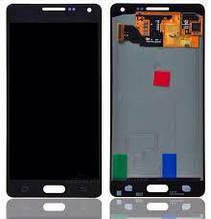 Дисплей для мобильных телефонов Samsung A500F Galaxy A5, A500FU Galaxy A5, A500H Galaxy A5 чёрный с сенсорным