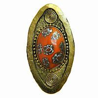 Непальское большое кольцо с камнем