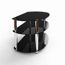ТВ тумба стеклянная Гензель сплошная покраска, цвет черный 105х48х52 (БЦ-стол ТМ), фото 2