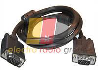 Шнур комп.VGA шт.HDB15pin- шт.HDB15pin, с фильт., 1,5м