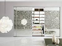 Двери для шкафа купе с пескоструйными рисунками