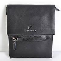 Чоловіча наплічна  шкіряна  сумка-планшет  (чорна)