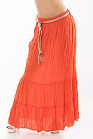 Юбка в пол длинная  Турция штапель лето морковная, фото 1