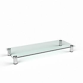 ТВ тумба стеклянная Плато Макси 90х32х12 (Бц-Стол ТМ)