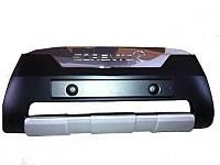 Накладки на бампер передние KIA Sorento 2009-12  (BKT-KSO-B91)
