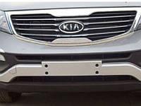 Накладки на бампер передние+задние KIA Sportage 2010-14  (BKT-KSP-B08)