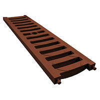 Решетка 0,5м ПВХ В125, система 1000/63/98/148 коричневый