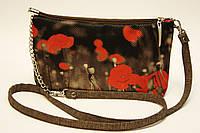 Женская сумочка Маки на черном, фото 1