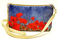 Женская сумочка Маки голубая