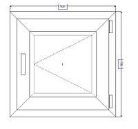 Металлопластиковое окно 500*500 открывающееся