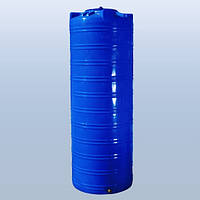 Емкость 1000л вертикальная  двухслойная, узкая, синяя
