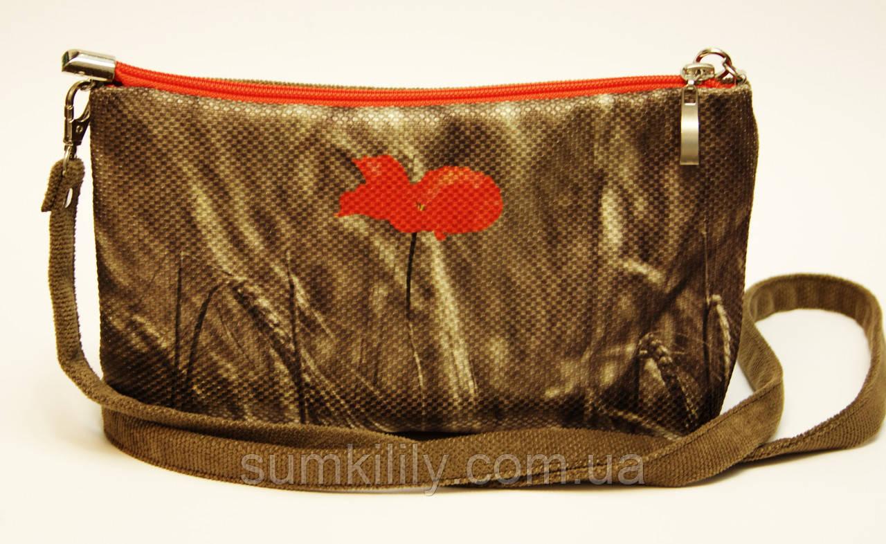 Женская сумочка Маки темно-серая