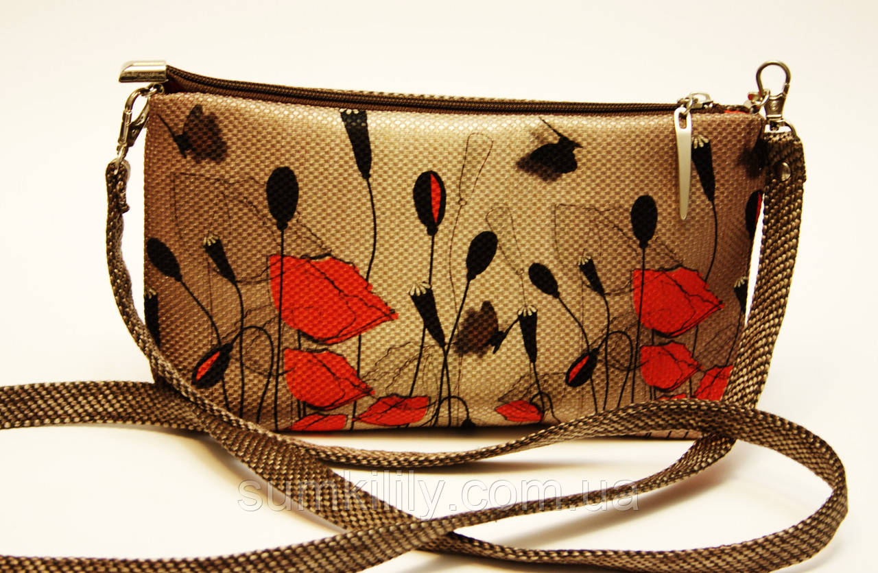 Женская сумочка Маки вектор