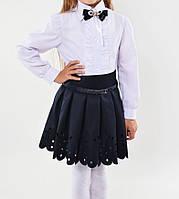 Школьная юбочка с перфорацией для девочки