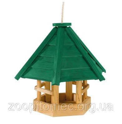Уличная деревянная кормушка. NATURA F8  Размеры 32,5 x 26,5 x h 32 см