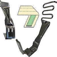 Приспособление лампасные  лапка для двухигольных машин челночного стежка