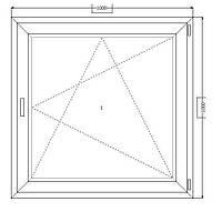 Металлопластиковые окна 1000*1000 открывающееся