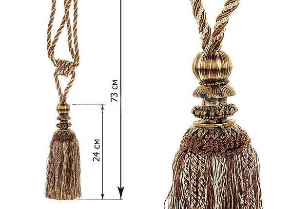 """Декоративные кисти для штор """"Империя, коричневые(пара), фото 2"""