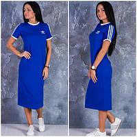 """Женское платье """"Adidas"""" синее OS-368"""