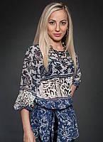 Модная шифоновая принтированная блуза