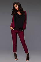 """Летний деловой женский костюм """"Carrie"""" с укороченными брюками и жакетом (4 цвета)"""