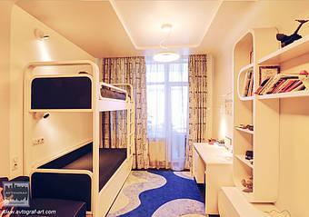 Детская комната выполнена с современным характером. Children in a contemporary modernity.